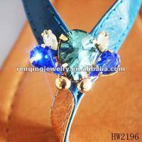2012 fashion blue acrylic slipper buckle