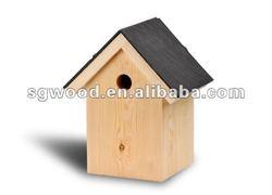 FSC promotion new cheap wooden bird house wholesale
