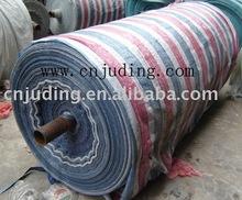 waterproof tarpaulin pp woven awing fabric red/blue/white stripe tarpaulins