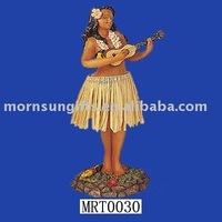 Hot Selling Resin Sexy Dancing Hula Girl Figurine