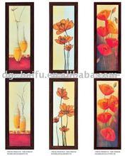 varies style for flower handmade creative canvas flower oil painting