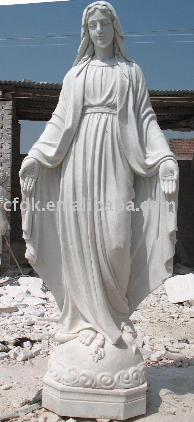 Vierge Marie statue porcelaine pleine v