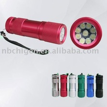 Aluminum 9 LED Flashlight Torch