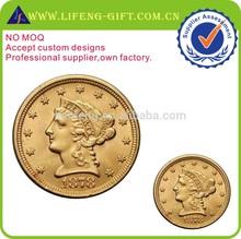 Cheap custom 3D gold coin high quality