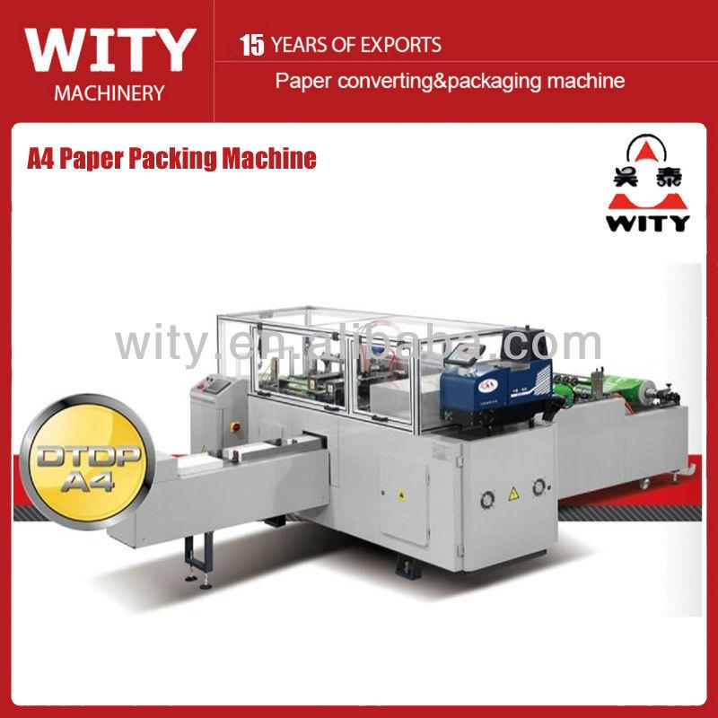 Papel de fotocópia A4 máquina de embalagem