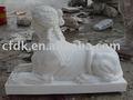 Esfinge estátua de mármore esfinge egípcia