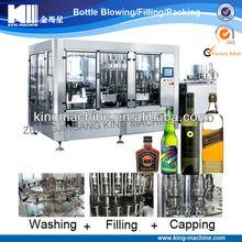Automatic White Alcohol Wine Bottle Washing Filling Capping Machine