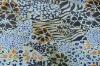 Gold printed elastic swimwear fabric