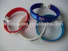 custom woven bracelet, 2014 world cup cheap bracelets,sports game promotion gifts