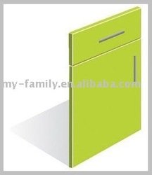 Green acrylic kitchen cabinet door