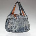 8645-- موضة حقائب اليد 2012 جينز السيدات فانسي، حقيبة يد السوق