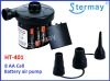 Battery powered air pump for inflate/deflate air beds/mattress/tents