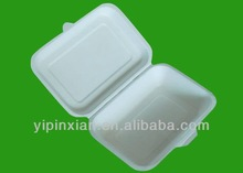 FDA disposable biodegradable 450ml sugarcane pulp food container