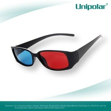 high quality 3d video glasses with nice PC plastic frame and anaglyphic red cyan thicken lens for 3d movies and vedio