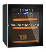 12 Bottle Modern Glass Liquor Cabinet