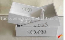 hollow out design white hand painted flower box wood planter boxes