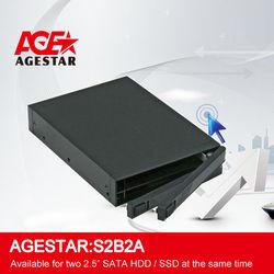 """AGE STAR SATA to 2 bay 2.5"""" Internal SATA HDD Enclosure:S2B2A"""