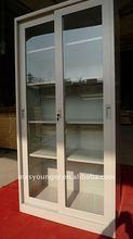 Modern product sliding glass door metal/steel filing cabinet/cupboard display furniture,metal corner wardrobe closets doors