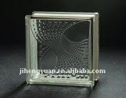 Phoenix tail clear glass block