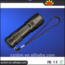 UV Money Detector LED Flashlight, 9 LED 365-370nm UV LED Torch, Multi-Function UV Blcklight Flashlight
