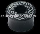 tribal horn plug tunnel,ear plug,316L jewelry