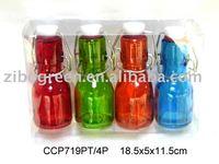 CCP719PT/4P glass mini bottle painted with color