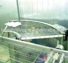 industrial curve stainless steel mesh conveyor