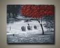 2014 venta caliente moderno con textura del paisaje pinturas al óleo