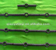 Decorative wrought iron balusters
