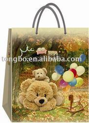 CMYK Color Printable Fashion Good Paper Gift Bag for Kid's Doll