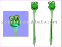 frog character ball pen with led light