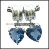 heart shamrock crystal bead weaving silver jewelry
