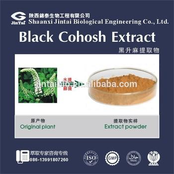 2.5% 5% 8% organic black cohosh triterpenoid saponins