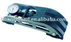high pressure single cylinder foot pump with pressure gauge