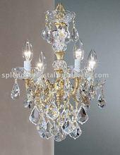 Antique Design Cut Crystal Zhongshan Crystal Chandelier Gold Finish