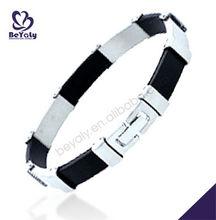 wholesale top quality fashion titanium leather bracelet