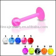 Uv marble labret ring body piercing jewelry acrylic labret jewelry