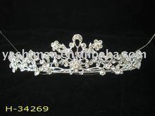 Hot china new design wedding tiara&crown