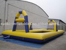 Inflatable badminton court