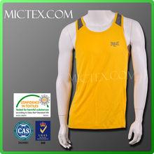 polyester wholesale quick dry sublimation gym mens vest OEM