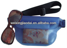 Plain plastic waterproof waist pack dry bag for wallet camera cell phone dry bag water sports waist bag factory