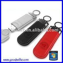 OEM free logo leather usb flash drive flash disk