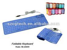 Promotion Fashionable silicone keyboard / 109 Keys
