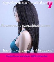 Pretty yaki straight Indian women hair wig