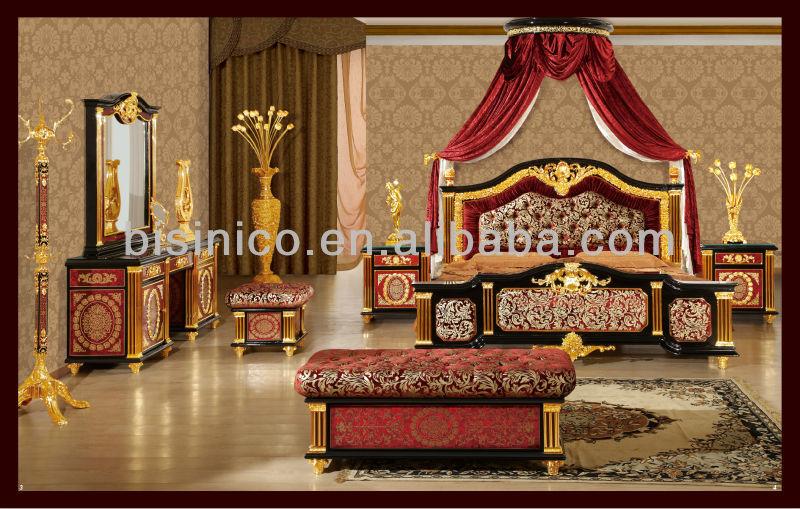 NEW ITEM Middle east calssical gold plated bedroom set