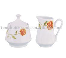 Flower design sugar porcelain creamer porcelain bone china