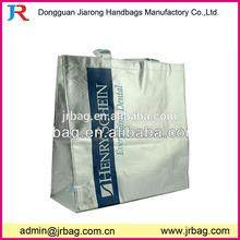 Silver PP Non Woven Laminated Tote shopping Bag