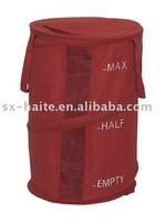 Cotton Pop up Laundry Basket Canvas Collapsible Laundry Bag Folding Laundry Hamper
