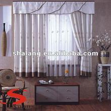 100% polyester fancy 2 pcs jacquard window curtain