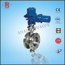 Electric Metal Sealed Flange Butterfly Valve